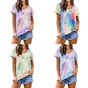Femmes coton à manches courtes T-shirt Top O Col Noir Lettre Blanc Imprimer Lettre Imprimer T-shirts Femme Summer Lady T-Tops En stock Y1906060 # 295