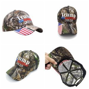 Camo Donald Trump 2020 Hat Make America Great Caps USA Flag Embroidery Letter Snapback Camouflage Men Baseball Cap Party Hats RRA3289