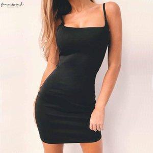 Beach Mini Sexy Dress Women Casual Denim Camis Dress Summer Slim Solid Bodycon Dress Nightclub Polyester Outdoor Party Drop
