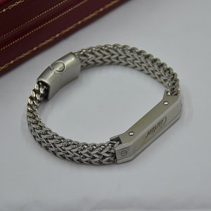 Man Bracelets High quality Titanium Metal Woven Bracelets with Cartler Branding Jewelry Charm Bracelet Mens Wear Pulseira As Gift