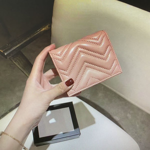 Marmont Coin Purse Card Case Quilted Fashion Women Leather Wallet Pouch Classic 466492 Mini Short Wallet Main Credit Holder Card Clutch Meol