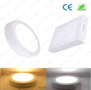 Round   Square Surface Mounted Led Downlight lighting Led ceiling lights spotlight 110-240V + Drivers CE Dimmable Led Panel Light 9W 15W 21