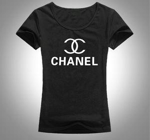Hot sale Fashion Luxury Summer T Shirt Women Tops Designer CHA Letter Print T-shirt Cotton Short Sleeve Tshirt Women Men Tees free ship