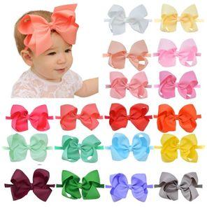 4.5 inch JOJO Hair Bows Trendy Grosgrain Ribbon Headband Fashion Boutique Jojo Siwa Hairband 20 color choose free ship Dropshipping