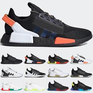 Adidas NMD R1 V2 Boost Скидка NMD R1 кроссовки OG Япония тройной черный белый солнечный Красный Oreo Мужчины Женщины дизайнер тренер Спорт кроссовки размер 5-11 Бесплатная доставка