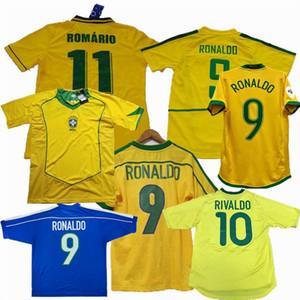 Retro Brazils 1994 1988 1998 2000 2002 2004 2006 трикотажные изделия футбола ROMARIO RONALDINHO Ривалдо кака 94 98 00 02 06 Brazils футбол рубашка