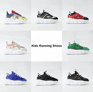 Kida Fashion Shoes Infants Sneaker Chainz Reactions Running Shoes Pine Green Royal Blue Pink Black children trainers 26-37