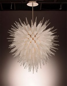 Cheap Ceiling Light Crystal Glass Livingroom DecorLED Borosilicate Glass Chandelier Lightings 100% Handmade Art Crystal Chandelier Lightings