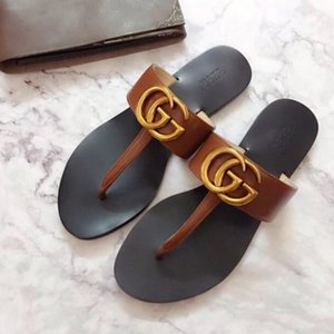 2020 Luxus-DesignerCC Sommer-flache Schuhe Damen Hausschuhe Flip Flops Round Toe Damen New Stylus Strand Tory Sandalen
