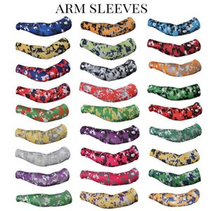 2016 atacado novos esportes Baseball Stitches mangas braço camo baseball manga do braço ao ar livre esporte estiramento compressão camo