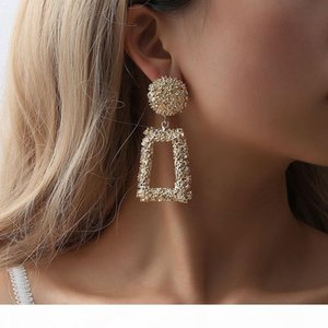 E Big Vintage Earrings For Women Gold Color Geometric Statement Earring 2019 Metal Earing Hanging Fashion Jewelry Trend