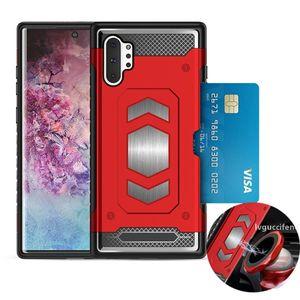 Car slot magnetic armor phone case For Samsung Galaxy Note 10 note10 pro s10 s10e s9 s8 plus A20 A30 A50 LG V30 V50 G7 G8 Q6 Q8 cases