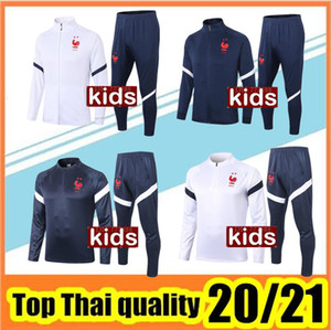 2020 2021 FRANCE Jacke Kinder Kit Fußball-Trikots Nationalmannschaft Mbappe Griezmann Anzug 20 21FRANCE Kinderanzug Trainingsbekleidung Fußball-Hemd