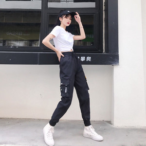 Womens Designer Pants Hot Big Pockets Women Pant High Waist Casual Clothing Loose Trousers Tactical Hip Hop Pants High Quality Trousers