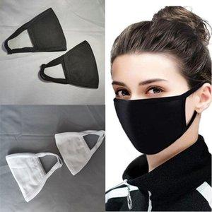 Anti-Staub-Gesichtsmaske Black Cotton Mouth Mask Muffle Mask für Radfahren Camping-Reisen Cotton Waschbar wiederverwendbare Tuch Masken CCA12343 200pcs
