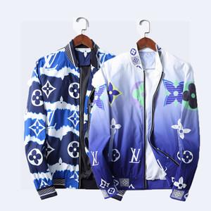2020 새로운 의류 파리 이탈리아 패션 자켓 캐주얼 윈드 긴 소매 코튼 남성 재킷 가을 겨울 지퍼 포켓 동물을 혼합