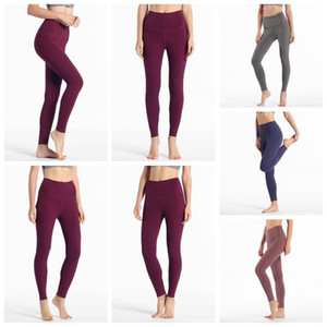 2020 top lu-32 leggings solid color womens lu yoga white icon pants 32 016 25 78 women sports workout seamless pink camo yogaworld set 2d34#