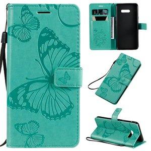 Presionado para LG G8X impresión de la mariposa patrón horizontal del caso del tirón del cuero de la PU con el titular de la tarjeta Monedero ranuras Lanyard