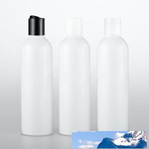 50PCS 120ML القرص كاب برغي مستحضرات التجميل زجاجة، الحاويات البلاستيكية والأبيض فارغة زجاجات الصابون السائل شامبو 4 OZ زجاجة بيضاء
