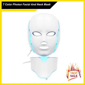 7 ألوان ضوء الفوتون الكهربائية الصمام الوجه الرقبة قناع الجلد PDT الجلد التجديد مكافحة حب الشباب تجاعيد إزالة العلاج التجميل صالون
