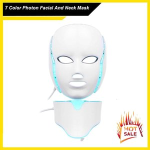 7 Therapy Skin Skin Neck Electric Facial LED Mask Acne Wrinkle Colors Rejuvenation Anti Light PDT Removal Photon Beauty Salon Xdxax