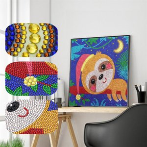 """Monkey on Tree "" Special Shaped Drill 5D Diamond Embroidery Diamond Mosaic Round Painting Cross Stitch Kits Home Decor"