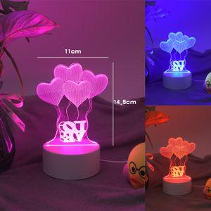 LED Light Lamp 3D Illusion Lamp 4mm Acrylic Light Panel AA Battery or DC 5V USB 3D nights lights