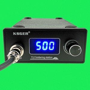 KSGER T12 Lötstation STM32 Digital elektrische 9501 Griff Stings DIY Schweißgeräte Schnell Heizung T12-Eisen-Spitze IXrH #
