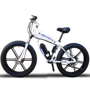 Costumbre ebike de 26 pulgadas llantas de grasa 500W 48V Li-ion de la nieve bicicleta eléctrica de montaña de disco hidráulico de frenos de choque frontal tenedor velocidad máxima de 35