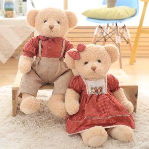 New Dress Teddy Bear Doll, Coppia idilliaca Teddy Bear Matrimonio Press Doll Pair Regali per bambini Trendy