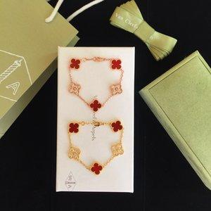 2020 new Korean Clover Sterling Silver Bracelet female simple wild girlfriends bracelet Japanese hand