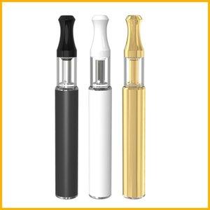 empty vape pen carts disposable vape pen thick oil pyrex glass ceramic coil cartridge custom logo packaging atomizer with bottom charge batt