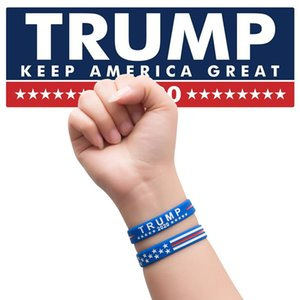 Trump Silicone Bracelets Keep America Great Wristband 2020 Presidential Election Donald Trump Supporters Wristband Bracelets