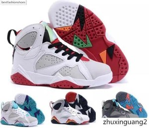 Kids 7 olympic Tinker Alternate 7s Raptor Hares J7s Boys girls youth Basketball shoes hildren Sneakers Size: US11C-3Y EU28-35