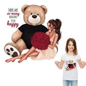 Big Doll filles Correctifs Vêtements Rose autocollant de fille Diy Accessoires de fer sur les vêtements de transfert de chaleur autocollants Mode Correctifs thermiques