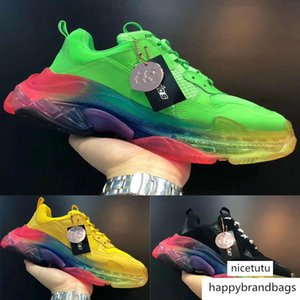 Colorful Paris Triple-s 3.0 Crystal Bottoms Sports Running Shoes Men Women Designer Girl Luxury Sneakers Triple s Red Green