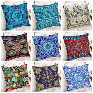 Pillow Case Bohemia Decorative Pillow Covers Linen Square Throw Pillow Cushion Cover Sofa Bed Accessories Supply 12 Designs DW5579