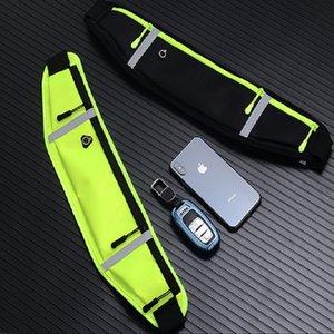 Outdoor sports waist multi-functional three-layer zipper pocket waist riding dancing running bag zipper running bag yoga fitness belt