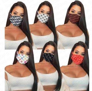 Luxe Masque Designer Masque Femmes Lettres Marque Masques Imprimer Bouche Couverture Cyclisme respirante Bouche moufles Masques réutilisables lavables E41102