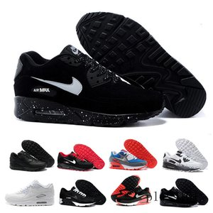 High Quality 2019 Air Cushion 90 Casual Running Shoes Cheap Black White Red 90 Men Women Sneakers Classic Air90 Trainer Outdoor G8T7N