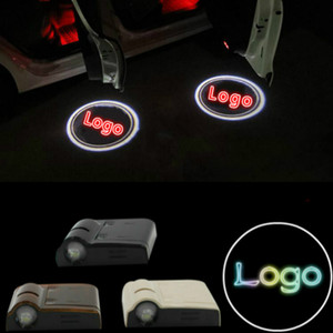 JURUS 2Pcs Wireless LED Logo Door Light Welcome Laser Projector Logo For For Led Ghost Shadow