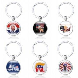 2020 croupion Keep America Grand Trousseau Donald Trump pour le président USA Creative Imprimer Porte-clés de voiture Chaîne Commémorer cadeau