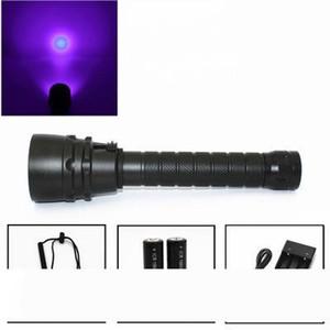 New UV 5x Led Diving Flashlight Waterproof Dive Torch Light 100m Underwater Flashlight Purple Light Ultraviolet Lamp Lantern