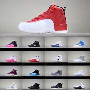 Kids sneaker 12 XII Shoes cool grey Vivid Pink french blue gym red the master OVO CNY flu game Basketball Shoes Children Boys Girls