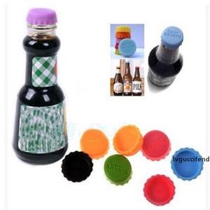 La botella de cerveza Cap reutilización de colores libre de fugas de cerveza Bebidas Vino Cápsulas sellador tope de la cubierta Barra de herramienta de la cocina CT0402