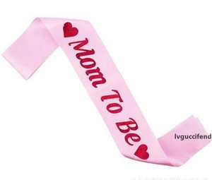 Baby Shower Satin Ribbon Mom To Be Sashes Pink Shoulder Strap Mother s Day Party Decoratives Christmas Gift