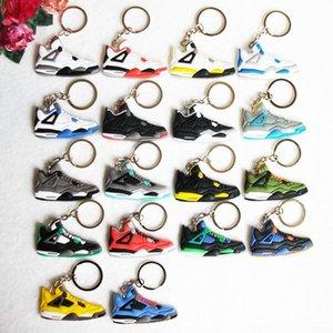 Scarpe NUOVA mini silicone Anello chiave di Keychain di fascino del sacchetto Donna Uomo Bambini Articoli da regalo catena chiave Holder Sneaker chiave 3d sneaker 3d sneaker keychains2020.