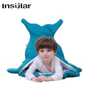 Unisex Cute Cartoon Shark Sleeping Bags Winter Children Sleep Sack Warm Blanket For Babies Large Warm Swaddle S200113