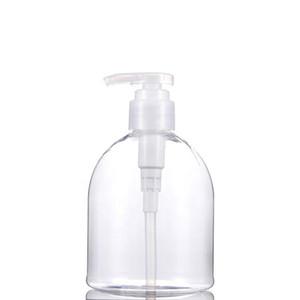 Sıcak Satış 300ml 500ml PET Temizle Plastik boşaltın Şampuan Duş Jeli El Temizleyici Basınç Pompası Şişeler 2000pcs / lot DHB780