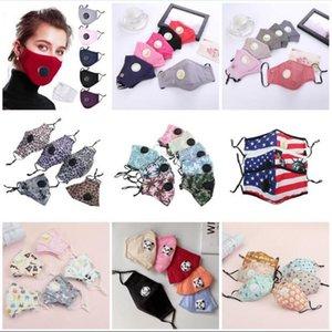 Reutilizable lavable máscara máscaras unisex de algodón de la cara de la válvula con la respiración boca PM2.5 máscara anti-polvo Tela Máscara con filtro de máscaras para niños